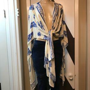EUC stunning multi purpose cotton rayon cover up